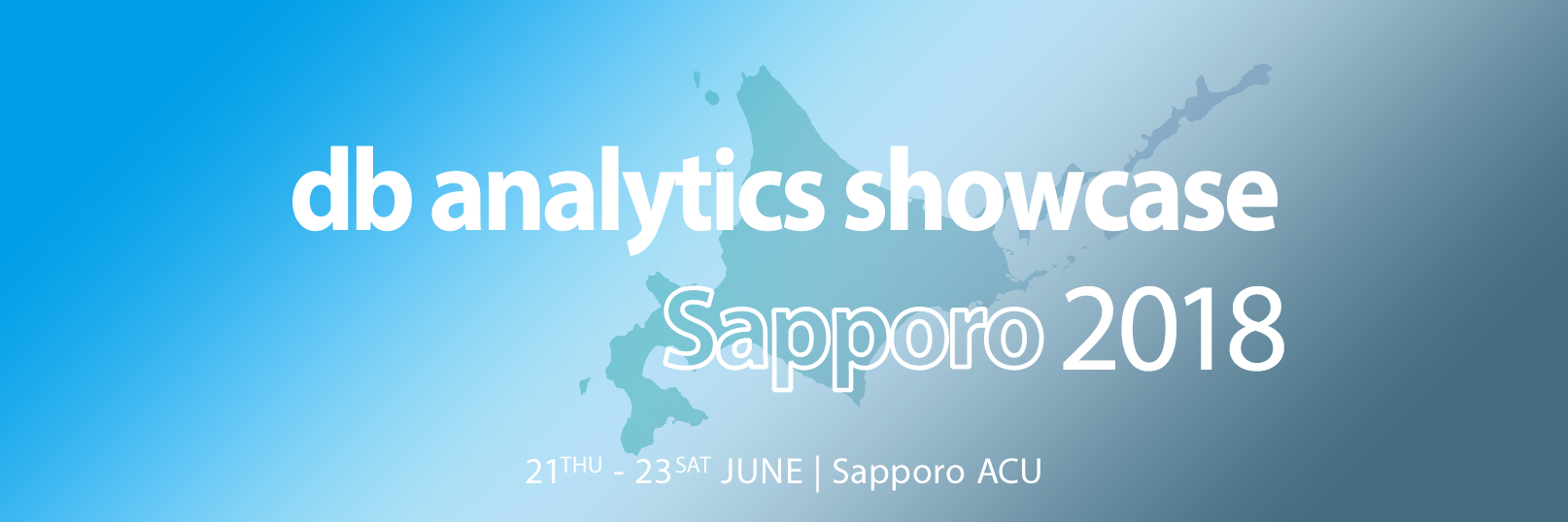 db analytics showcase Sapporo 2018